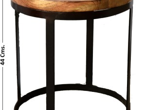 Iron 1 Wooden Plate Coffee Table Large set of 2 pcs