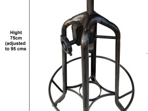Iron Toledo Revolving Gear Bar stool with wooden seat (seat 14×14 inch)