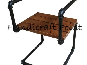 Iron pipe designed industrial chair