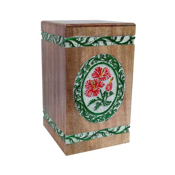 Wood Box For Human Ashes - Timber Adult Urn, Memorials Casket