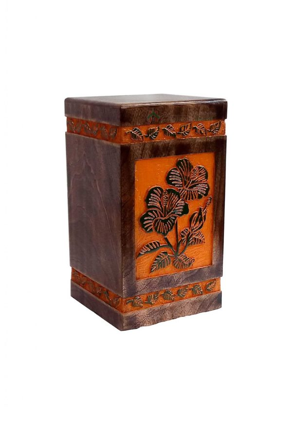 Wood Casket Urn, Memorials Urns For Ashes, Burial Keepsake, Wooden Adult Box