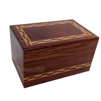 Wooden Cremation Ashes Urns, Memorials Box For Adult, Wood Burial Casket Urn