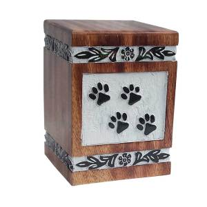 wooden pet ashes urn