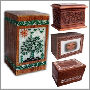 Wooden Cremation Urns, Funeral Urn - Art and Manufacturer