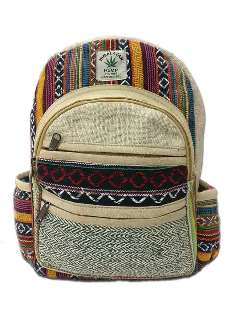 d8f91419be65b0 Hippie Hemp Backpack, Hemp Backpack Nepal - HIN