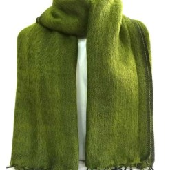 yak wool shawl army green