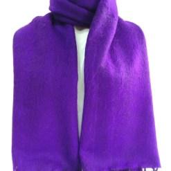 yak wool shawl purple