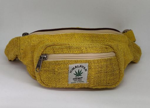 Yellow Hemp Fanny Pack