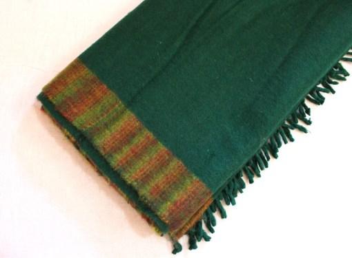 yak wool blanket bright green color