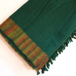 yak wool blanket bright green color