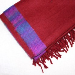 yak wool blanket red color