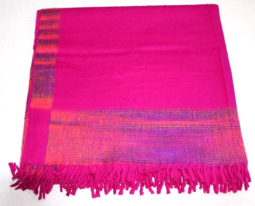100% Yak Wool Blanket, Hot Pink Color 2