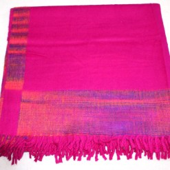 100% Yak Wool Blanket, Hot Pink Color 4