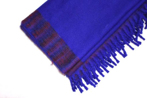 yak wool blanket indigo blue color
