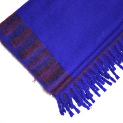 yak wool blanket indigo blue color