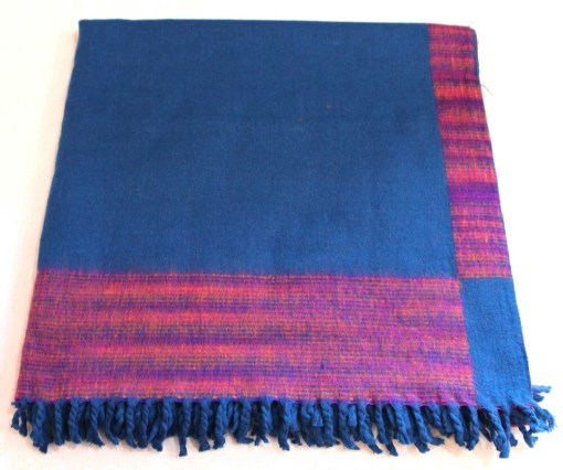 100% Yak Wool Blanket, Turquoise Color 2