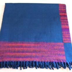 100% Yak Wool Blanket, Turquoise Color 4