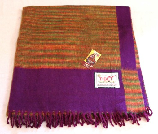 100% Yak Wool Blanket, Magenta Purple Color 1