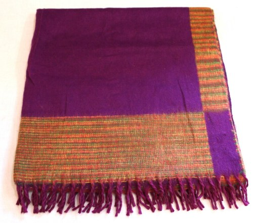 100% Yak Wool Blanket, Magenta Purple Color 2
