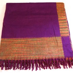 100% Yak Wool Blanket, Magenta Purple Color 4