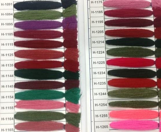 Yak Wool Color Chart 11