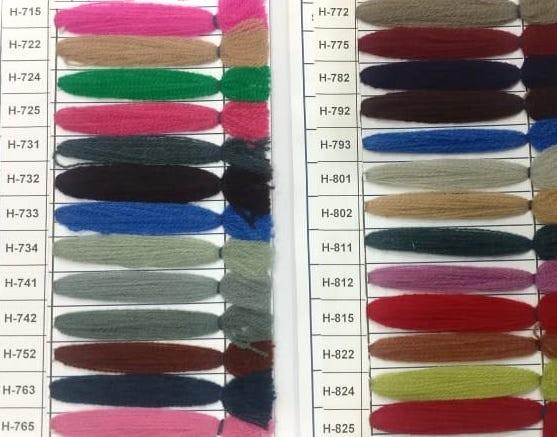 Yak Wool Color Chart 9