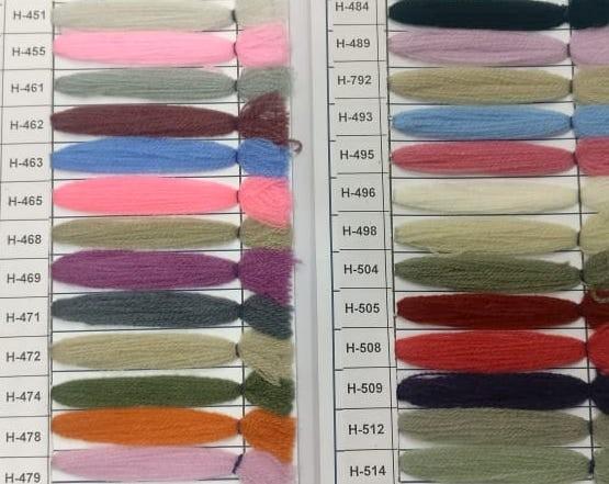 Yak Wool Color Chart 6