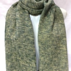 handwoven yak wool shawl light green color