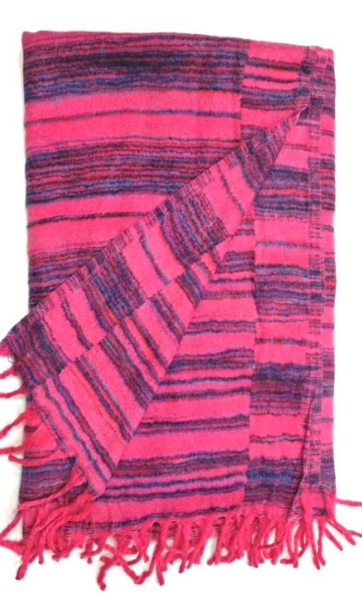 hand-loomed-yak-wool-blanket-pink-color-2