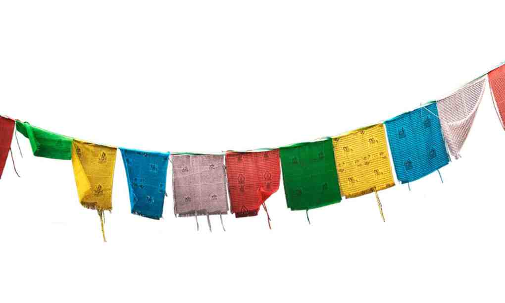 tibetan buddhist prayer flags