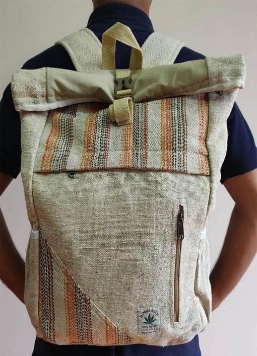 Hemp Rucksack Bag 1