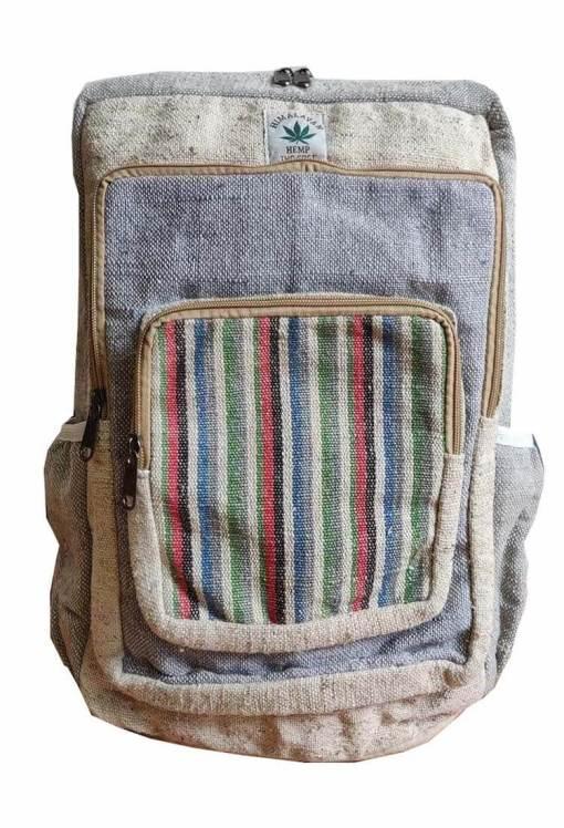 modern hemp travel backpack