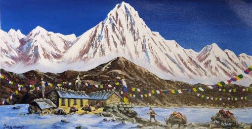 Nepal Mountain Painting