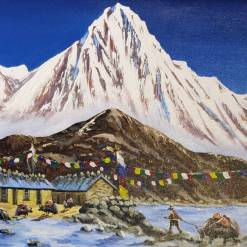Nepal Mountain Painting