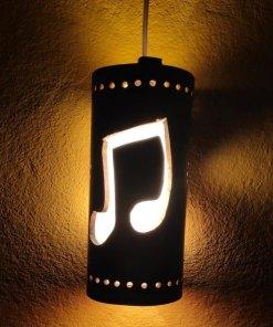 music hanging lamp bamboo made in nepal