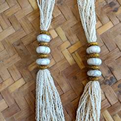 Nepali Beads White Pote Necklace