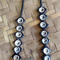 ying yang bone necklace