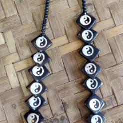 ying yang bone necklace