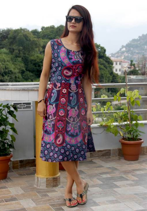 Paisley Cotton Women Dress