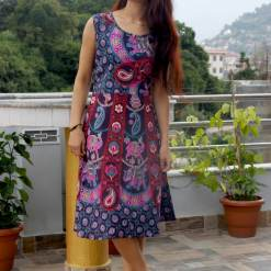 Paisley Cotton Women Dress