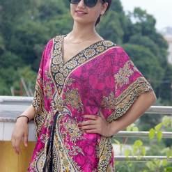 Satin Kaftan Full Length Dress