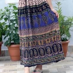 Paisley Wrinkle Women Skirt