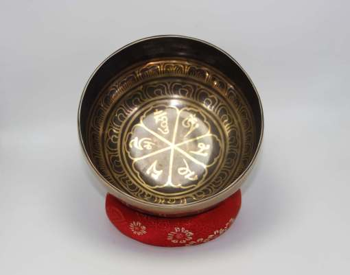 Om Carved Handmade Tibetan Singing Bowl