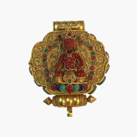 tibetan ghau buddhist ritual items