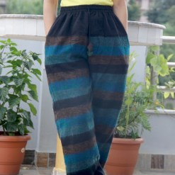 Stripe Dark Blue Woolen Trouser
