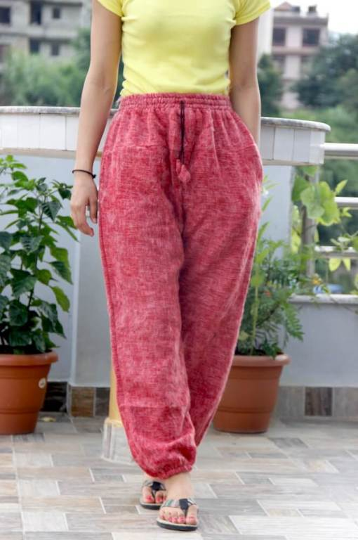 Red Rose Woolen Trouser