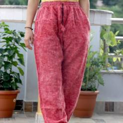 Red Rose Woolen Trouser