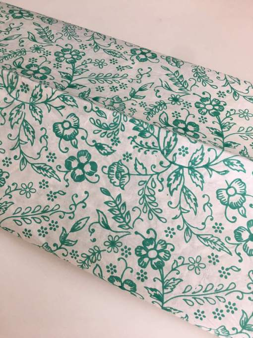 Fantastic Green Floral Wrapping Paper