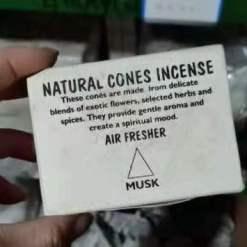 natural cones incense musk