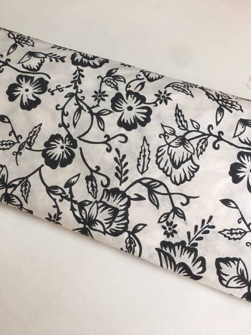 Natural Flower Gift Wrapping Paper